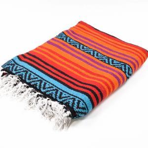 エルパソサドルブランケット (El Paso SADDLEBLANKET) Peyote Blanket/ペヨーテブランケット[約188×142cm]ORANGE/TURQUOISE|rugforest