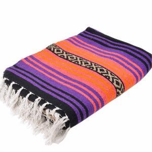 エルパソサドルブランケット (El Paso SADDLEBLANKET) Peyote Blanket/ペヨーテブランケット[約188×142cm]PURPLE/SALMON rugforest