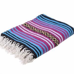 エルパソサドルブランケット (El Paso SADDLEBLANKET) Peyote Blanket/ペヨーテブランケット[約188×142cm]TURQUOISE/DK.CHERRY|rugforest