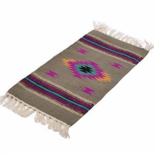 エルパソサドルブランケット (El Paso SADDLEBLANKET) San Carlos Style/プレースマット[約51×25cm]GRAY【得トクセール】|rugforest