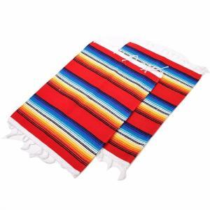 エルパソサドルブランケット (El Paso SADDLEBLANKET) Serape Placemat/サラペプレースマット[約48×33cm]RED【得トクセール】|rugforest