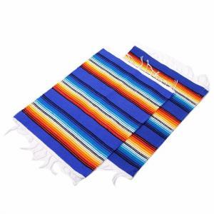 エルパソサドルブランケット (El Paso SADDLEBLANKET) Serape Placemat/サラペプレースマット[約48×33cm]ROYAL.BLUE【得トクセール】|rugforest