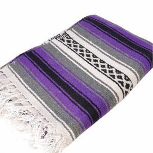 エルパソサドルブランケット (El Paso SADDLEBLANKET) New West Traditional Falsa Blanket/ニューウェストファルサブランケット[約188×142cm]PURPLE rugforest