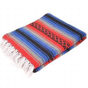 エルパソサドルブランケット (El Paso SADDLEBLANKET) True Grit Falsa Blanket/トゥルーグリットファルサブランケット[約188×142cm]RED/BLUE rugforest