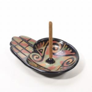 ルナスンダラ (Luna Sundara) Incense Holder[Modelo Mano]インセンスホルダー/パロサントお香サンプル3本付き[GREEN]|rugforest