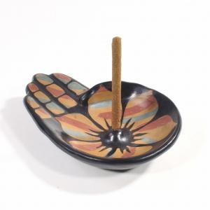 ルナスンダラ (Luna Sundara) Incense Holder[Modelo Mano]インセンスホルダー/パロサントお香サンプル3本付き[PEACH]|rugforest