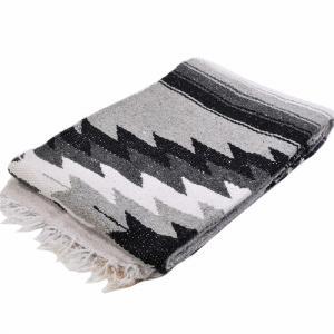 モリーナインディアンブランケット (Molina Indian Blanket) Extra Fancy Diamond Blanket[Natural]エクストラファンシーダイヤモンド[約200×127cm]BLK/GRAY rugforest