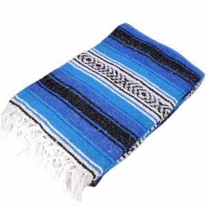 モリーナインディアンブランケット (Molina Indian Blanket) Heavy Weight Falza Blanket/ヘビーウェイトファルサブランケット[約198×137cm]BLUE/TURQUOISE|rugforest