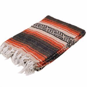 モリーナインディアンブランケット (Molina Indian Blanket) Heavy Weight Falza Blanket/ヘビーウェイトファルサブランケット[約198×137cm]BROWN/RUST rugforest