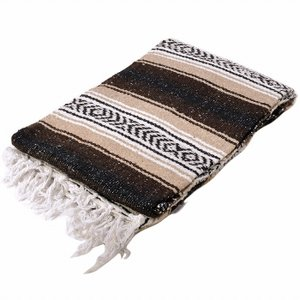 モリーナインディアンブランケット (Molina Indian Blanket) Heavy Weight Falza Blanket/ヘビーウェイトファルサブランケット[約198×137cm]BROWN/TAN rugforest