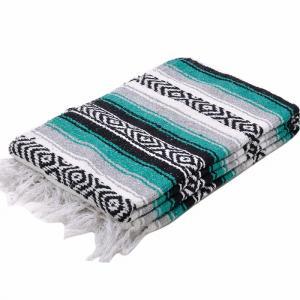 モリーナインディアンブランケット (Molina Indian Blanket) Heavy Weight Falza Blanket/ヘビーウェイトファルサブランケット[約198×137cm]EMERALD rugforest