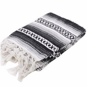 モリーナインディアンブランケット (Molina Indian Blanket) Heavy Weight Falza Blanket/ヘビーウェイトファルサブランケット[約198×137cm]GRAY|rugforest