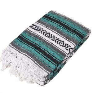 モリーナインディアンブランケット (Molina Indian Blanket) Heavy Weight Falza Blanket/ヘビーウェイトファルサブランケット[約198×137cm]TEAL|rugforest
