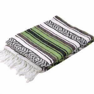 モリーナインディアンブランケット (Molina Indian Blanket) Economy Mexican Blanket/エコノミーメキシカンブランケット[約185×122cm]AVOCADO rugforest