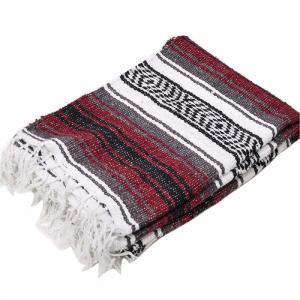 モリーナインディアンブランケット (Molina Indian Blanket) Economy Mexican Blanket/エコノミーメキシカンブランケット[約185×122cm]BURGUNDY rugforest