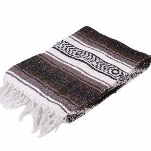 モリーナインディアンブランケット (Molina Indian Blanket) Economy Mexican Blanket/エコノミーメキシカンブランケット[約185×122cm]BROWN|rugforest