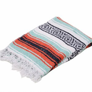 モリーナインディアンブランケット (Molina Indian Blanket) Economy Mexican Blanket/エコノミーメキシカンブランケット[約185×122cm]ORANGE/MINT|rugforest