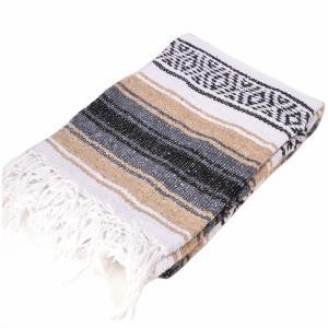 モリーナインディアンブランケット (Molina Indian Blanket) Economy Mexican Blanket/エコノミーメキシカンブランケット[約185×122cm]TAN|rugforest