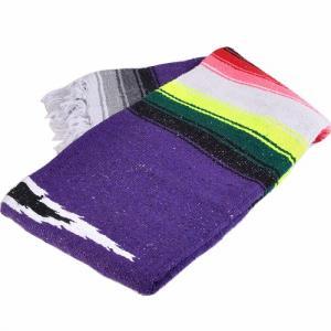 モリーナインディアンブランケット (Molina Indian Blanket) Diamond Design Blanket/ダイヤモンドデザインブランケット[約198×137cm]PURPLE rugforest