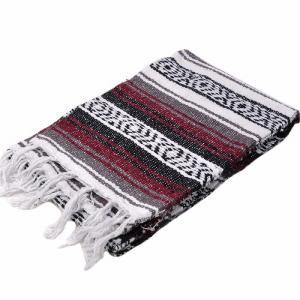 モリーナインディアンブランケット (Molina Indian Blanket) 1/2 Size Mexican Blanket/ハーフサイズメキシカンブランケット[約183×61cm]BURGUNDY rugforest
