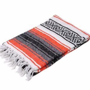 モリーナインディアンブランケット (Molina Indian Blanket) 1/2 Size Mexican Blanket/ハーフサイズメキシカンブランケット[約183×61cm]ORANGE rugforest