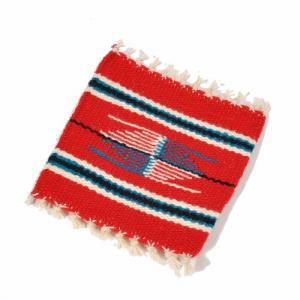 オルテガ (Ortega's) Chimayo Single Coasters/チマヨシングルコースター[約13×13cm]RED|rugforest