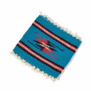オルテガ (Ortega's) Chimayo Single Coasters/チマヨシングルコースター[約13×13cm]TURQUOISE/03|rugforest