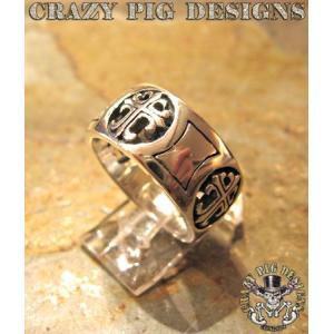 クレイジーピッグ リング 指輪 CRAZYPIG 4クロスバンドリング 1:16号 CRAZY PIG メンズ リング レディース リング|rugged-market