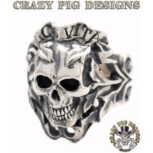 クレイジーピッグ リング 指輪 CRAZYPIG ドュルシスヴィータスカルリング CRAZY PIG メンズ リング レディース リング|rugged-market