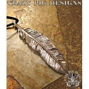 クレイジーピッグ ネックレス ペンダント CRAZYPIG ラージ ルーブル フェザー ペンダント CRAZY PIG ネックレス メンズ ネックレス レディース|rugged-market