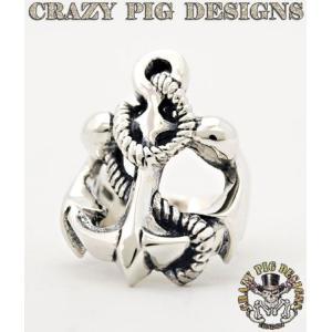 クレイジーピッグ リング 指輪 CRAZYPIG ラージ アンカー リング CRAZY PIG メンズ リング レディース リング|rugged-market