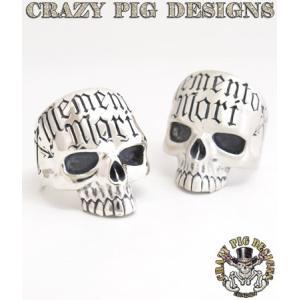 クレイジーピッグ リング 指輪 CRAZYPIG メメントモリスカルリング CRAZY PIG メンズ リング レディース リング|rugged-market
