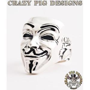 クレイジーピッグ リング 指輪 CRAZYPIG ヴェンデッタ マスク リング CRAZY PIG メンズ リング レディース リング rugged-market