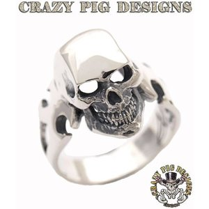 クレイジーピッグ リング 指輪 CRAZYPIG カタウェイスカルリング CRAZY PIG メンズ リング レディース リング|rugged-market