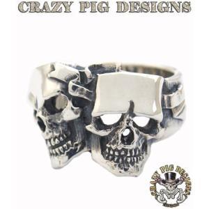 クレイジーピッグ リング 指輪 CRAZYPIG コメディー&トラジェディースカルスリング CRAZY PIG メンズ リング レディース リング rugged-market