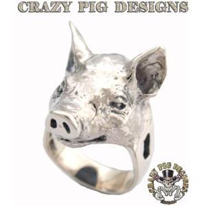 クレイジーピッグ リング 指輪 CRAZYPIG スモールピッグヘッドリング CRAZY PIG メンズ リング レディース リング rugged-market