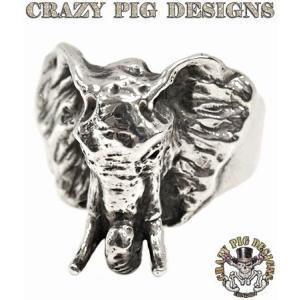 クレイジーピッグ リング 指輪 CRAZYPIG スモールエレファントリング CRAZY PIG メンズ リング レディース リング rugged-market