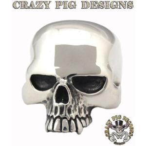 クレイジーピッグ リング 指輪 CRAZYPIG ラージエビルスカルリング キースリング CRAZY PIG メンズ リング レディース リング|rugged-market