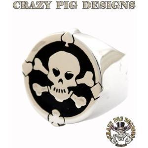 クレイジーピッグ リング 指輪 CRAZYPIG エナメルスカル&CB+4エースリング CRAZY PIG メンズ リング レディース リング|rugged-market