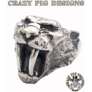 クレイジーピッグ リング 指輪 CRAZYPIG サーベルトゥースタイガーリング CRAZY PIG メンズ リング レディース リング rugged-market