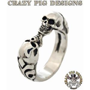 クレイジーピッグ リング 指輪 CRAZYPIG 2スカルチューダーリング CRAZY PIG メンズ リング レディース リング rugged-market