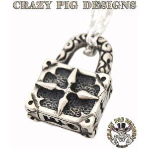 クレイジーピッグ ネックレス ペンダント CRAZYPIG パドロック ペンダント CRAZY PIG ネックレス メンズ ネックレス レディース|rugged-market