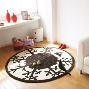 ベビー&キッズ ラグ 円形ラグマット 東リTOR3221 150×150cm ラグ 床暖房・ホットカーペット対応/カーペット|rugmat