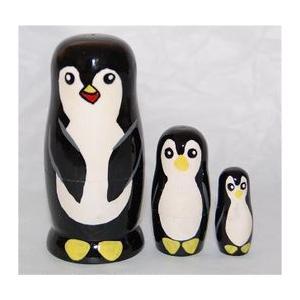 動物マトリョーシカ  ペンギン 3個組6.5cm ruinok-2