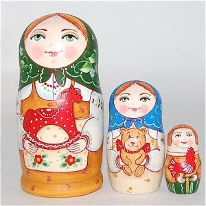 「大好きなおもちゃ  木馬」 11cm  3個組 作家 エレーナ・イワンツォヴァ|ruinok-2