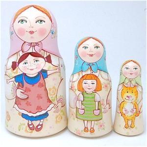 「大好きなおもちゃ お人形」スタンド型 11cm  3個組 作家 エレーナ・イワンツォヴァ|ruinok-2
