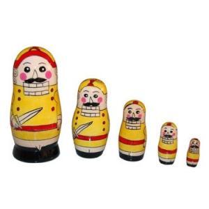 くるみ割り人形 マトリョーシカ 5人組 11cm イエロー ruinok-2