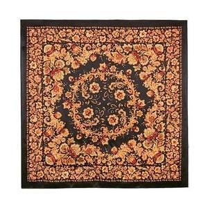シルクスカーフ 「ホフロマ」color:BLACK 89cm×89cm|ruinok-2