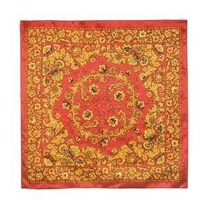 シルクスカーフ 「ホフロマ」color:RED 89cm×89cm|ruinok-2
