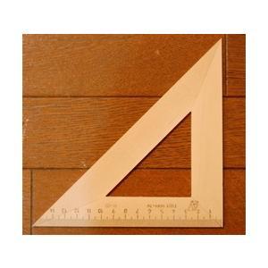 木製三角定規 14cm (二等辺三角形) ruinok-2